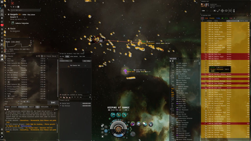 Screenshot aus dem EVE Online Clienten.