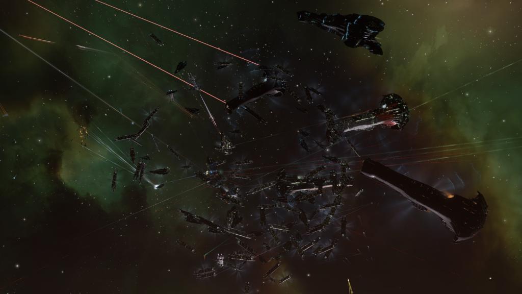 Capital Flotte mit Carriern und Titans